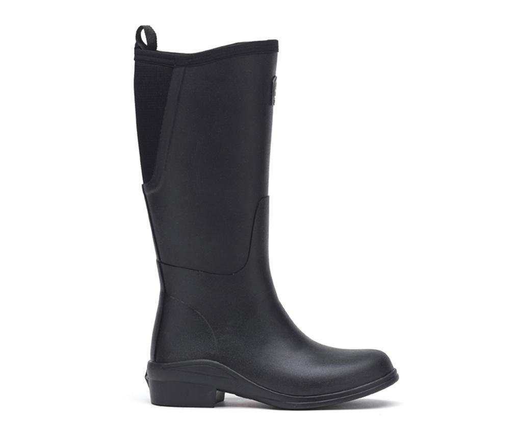 Cizme de ploaie dama Heel Black 38