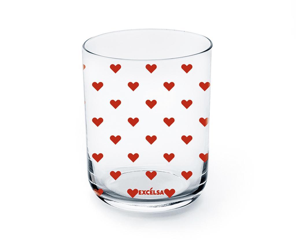 Kozarec Red Hearts 350 ml