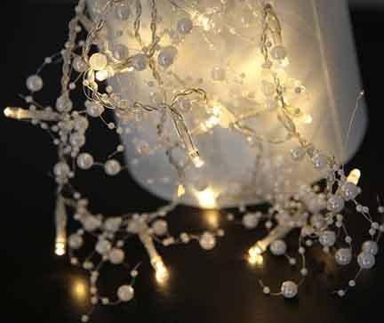 Svjetleća girlanda Pearl Silver 115 cm
