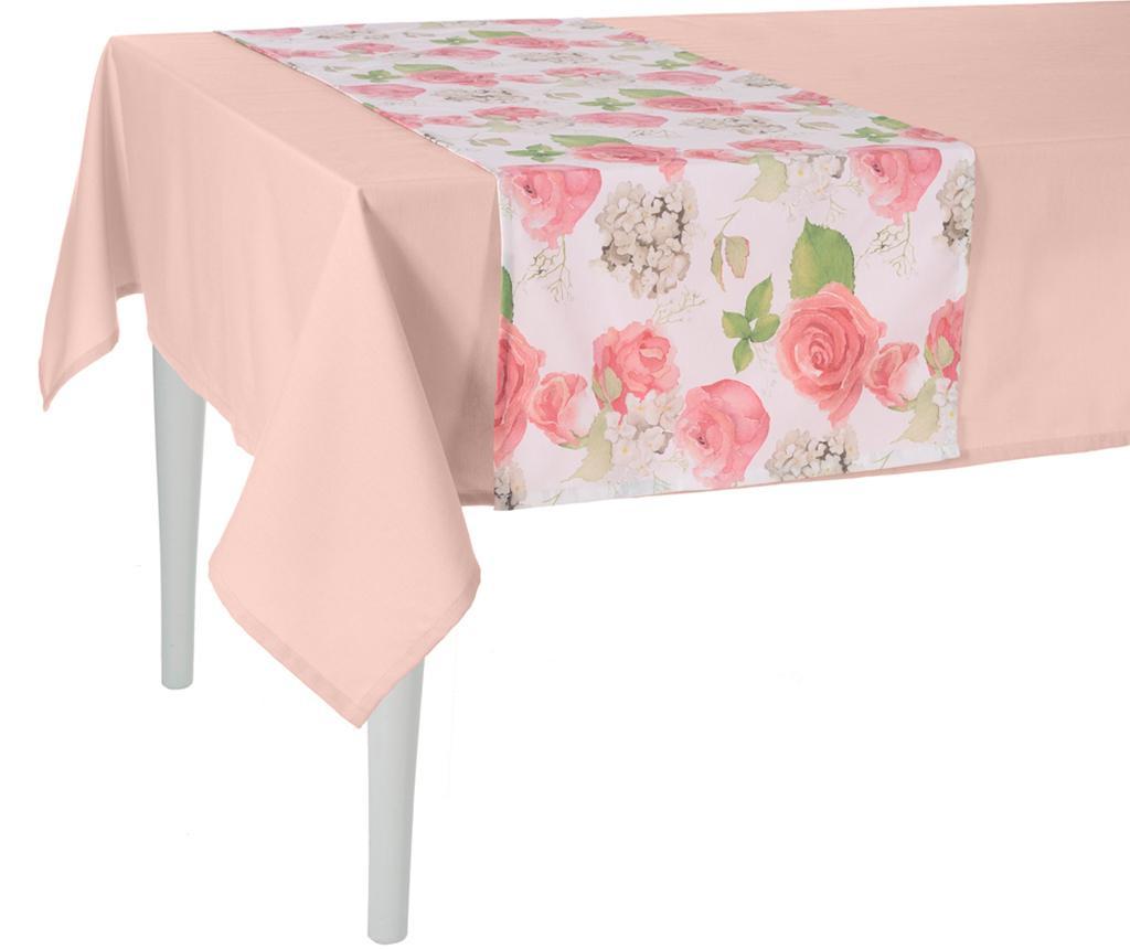Traversa de masa Flowery Pink 40x140 cm