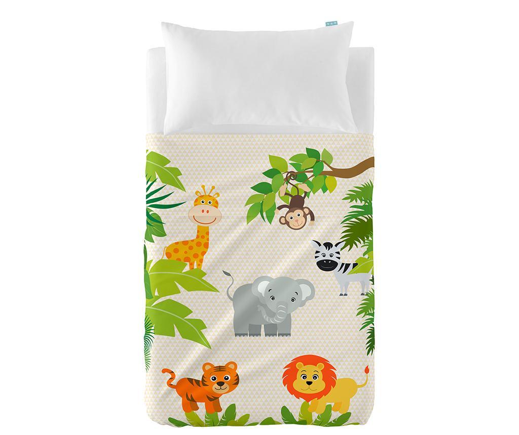 Set plahta za krevetić i jastučnica Jungle Extra Uni
