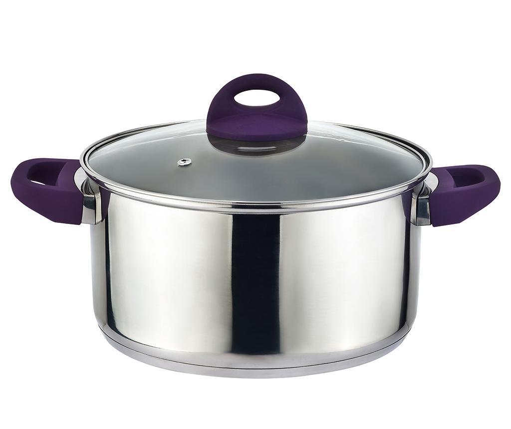 Cratita cu capac Adam Purple 5.4 L