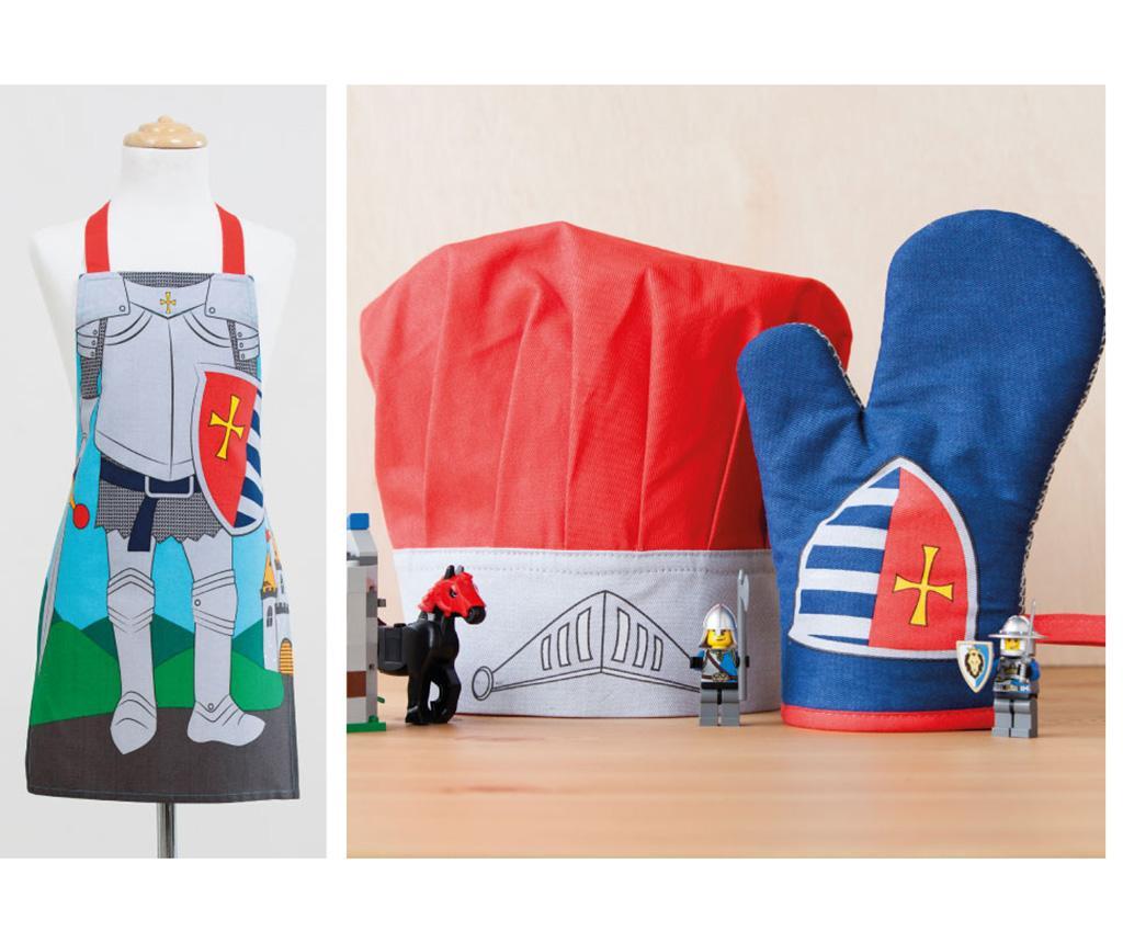 Set 3 piese de bucatarie pentru copii Knight Printed