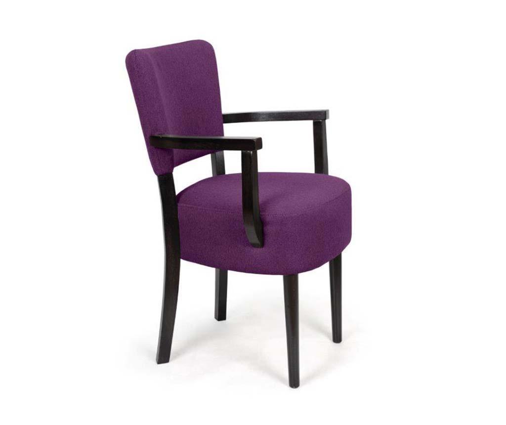 Stolica Nisa Dark Purple Arms Simple Classic