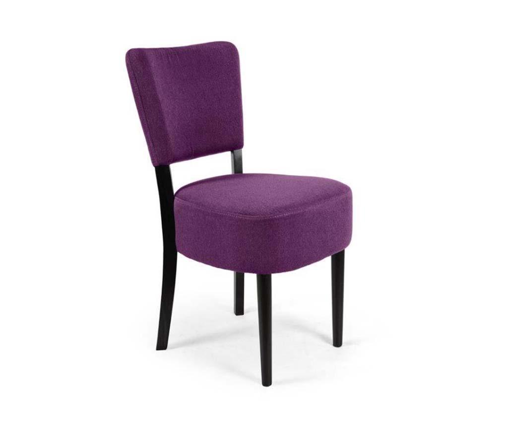Καρέκλα Nisa Dark Purple Simple Classic