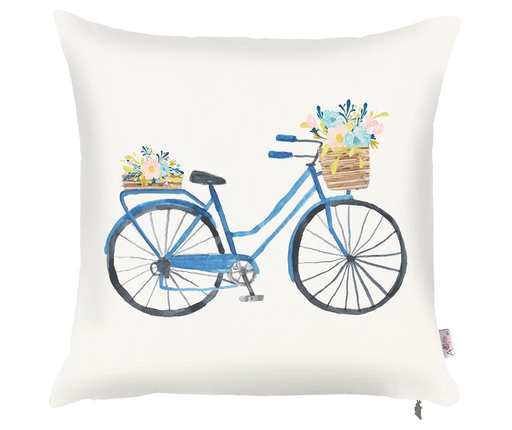 Prevleka za blazino Bike with Flowers 43x43 cm