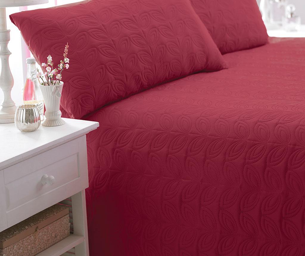 Set s posteljnim pregrinjalom King Leaf Red