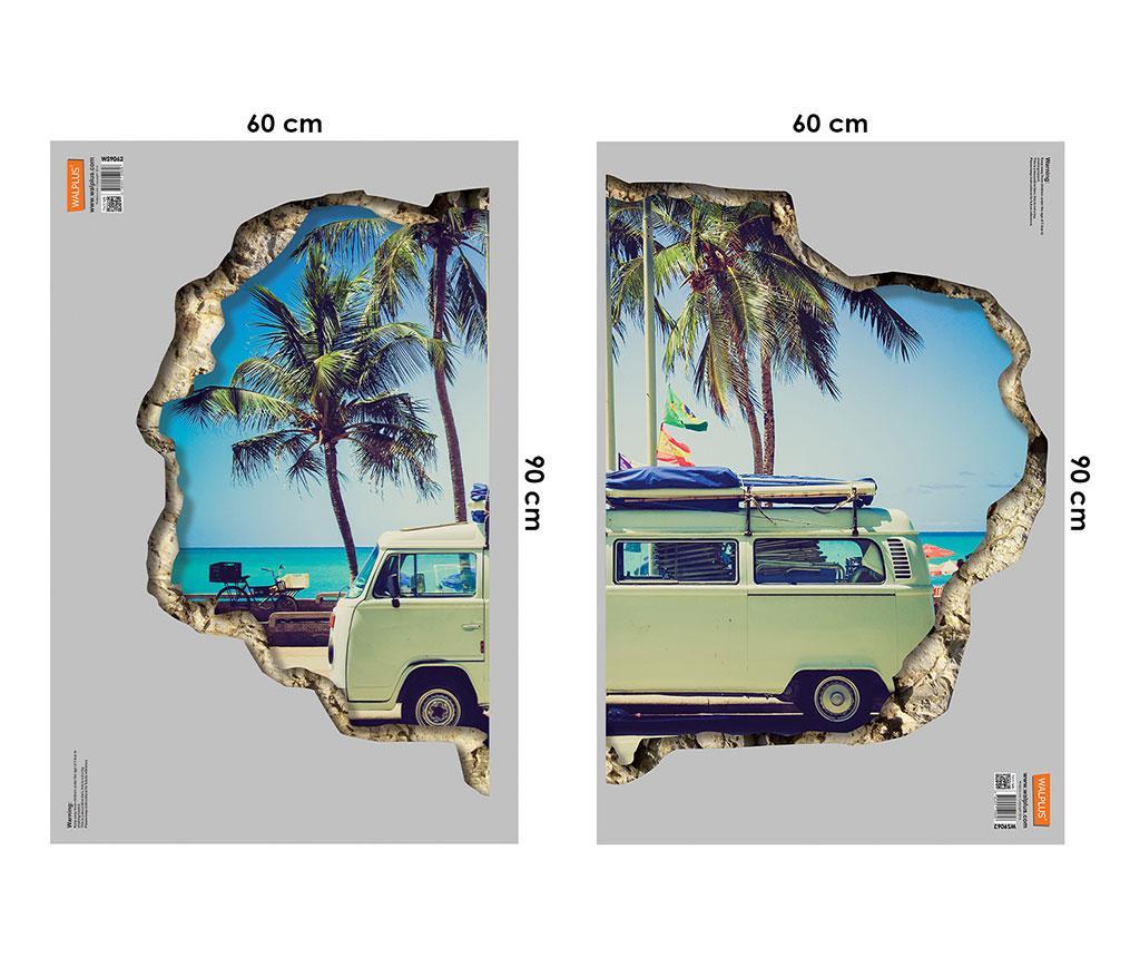 Стикер 3D Camper Van