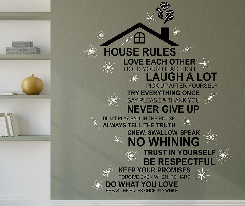 Sticker Rooftop House Rules English