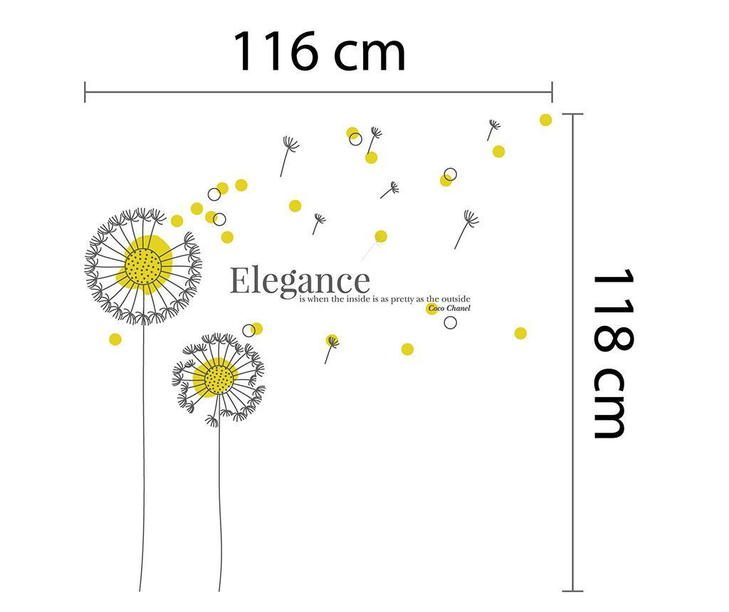 Sticker Yellow Dandelion