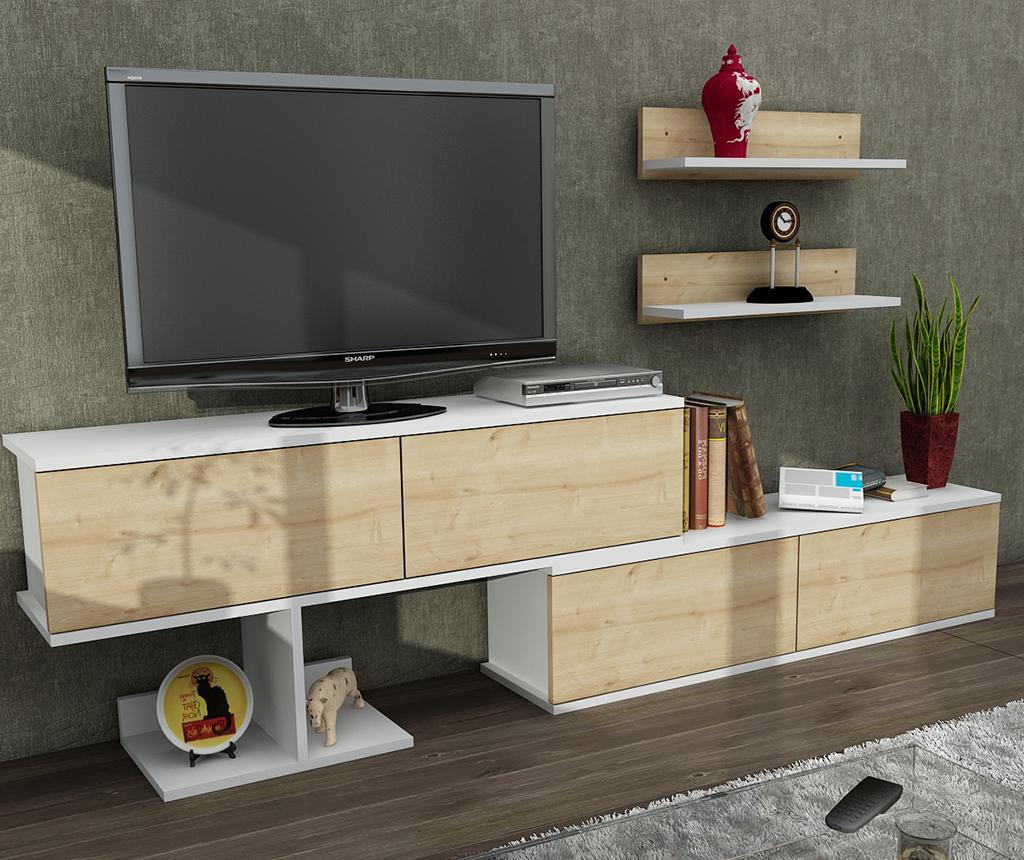 Set comoda TV si 2 polite Maximus