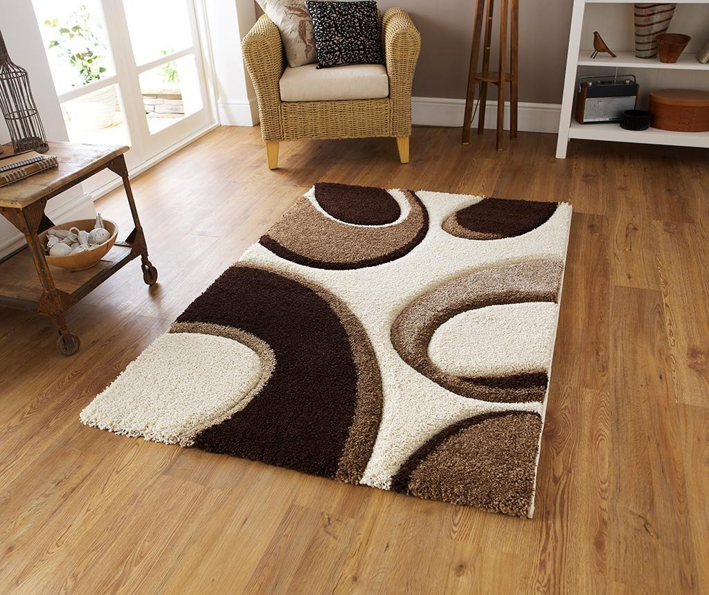 Preproga Bubbles Ivory and Brown 120x170 cm