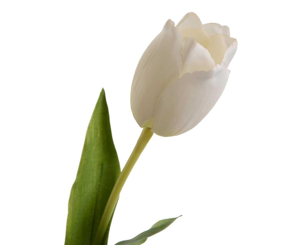 Floare artificiala Tulip Elegance White