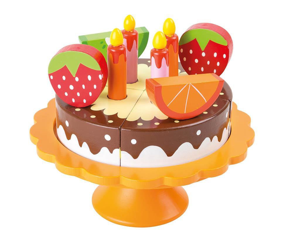 Set tort si platou de jucarie Birthday Cake