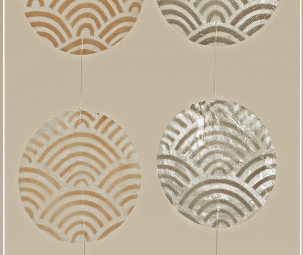 Set 2 visečih dekoracij Capiz