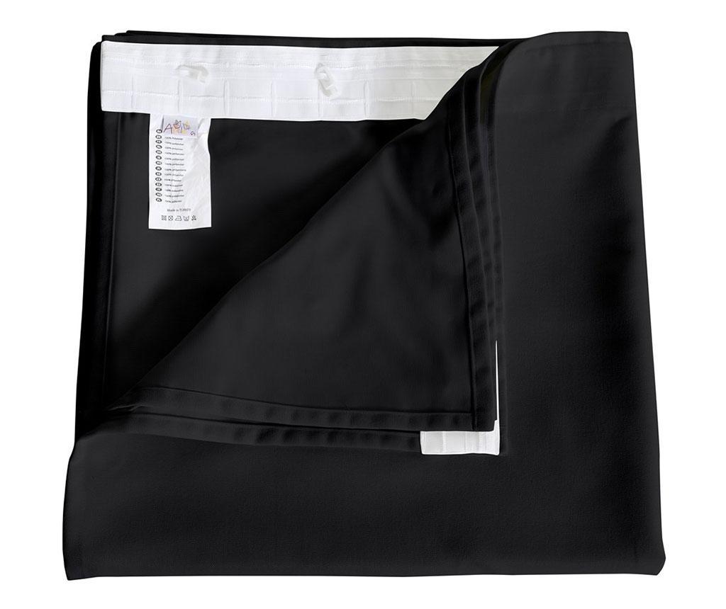 Zasłona Plane Black 140x270 cm
