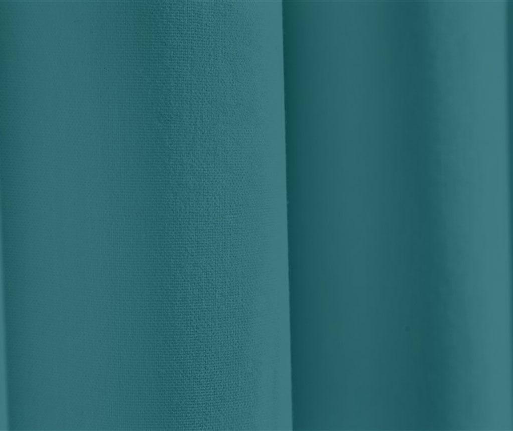 Zastor Plane Turquoise 140x270 cm