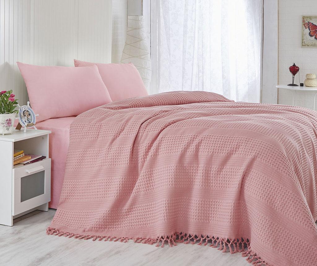 Jesse Coral Pique ágytakaró 180x240 cm
