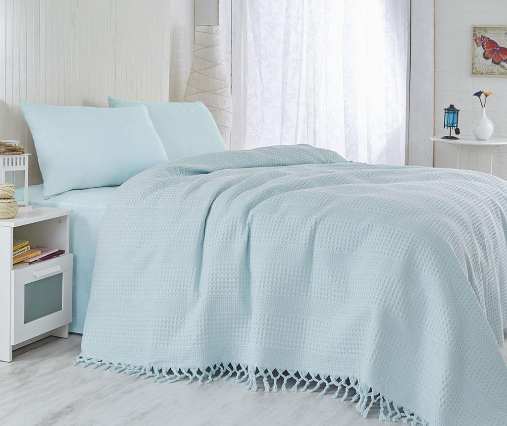 Jesse Light Blue Pique ágytakaró 180x240 cm