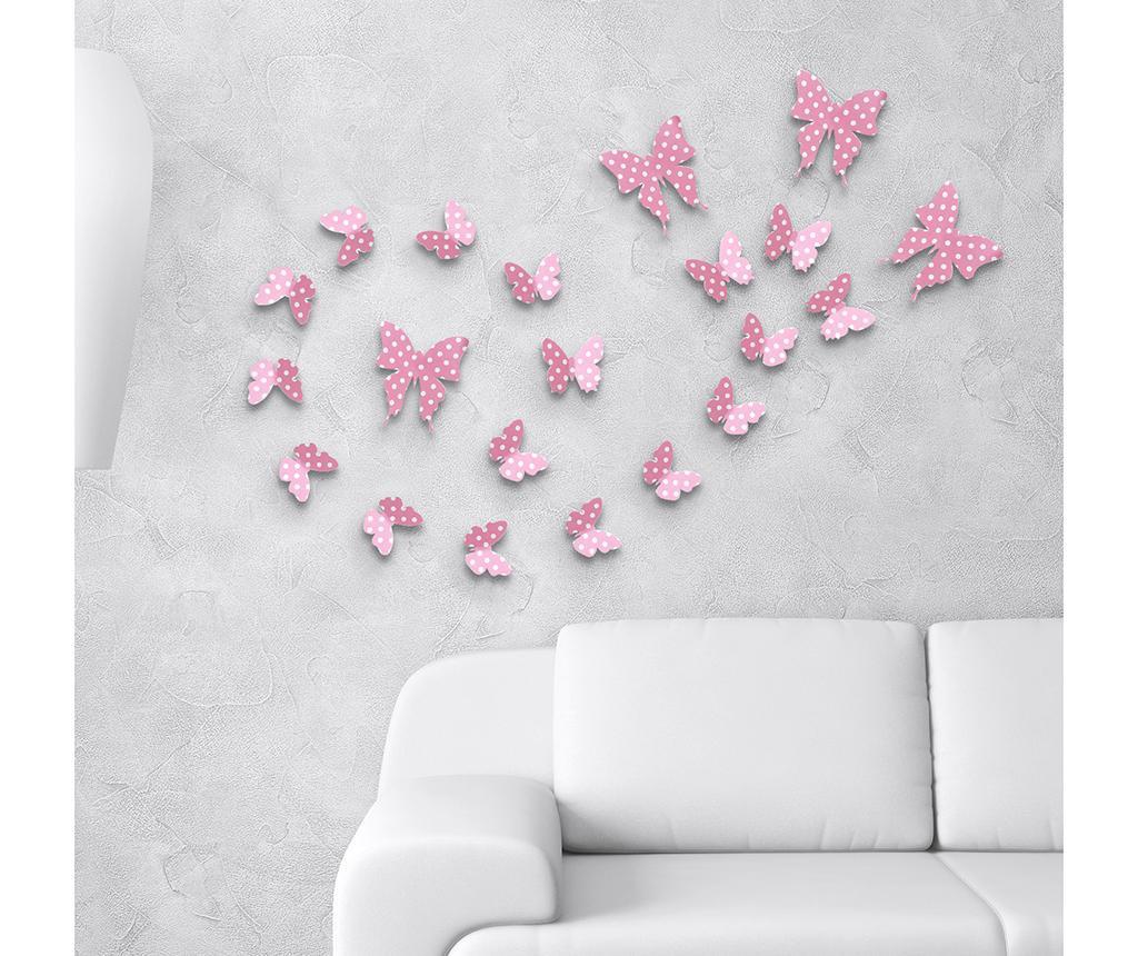Strawberry Butterflies 10 darab 3D Matrica