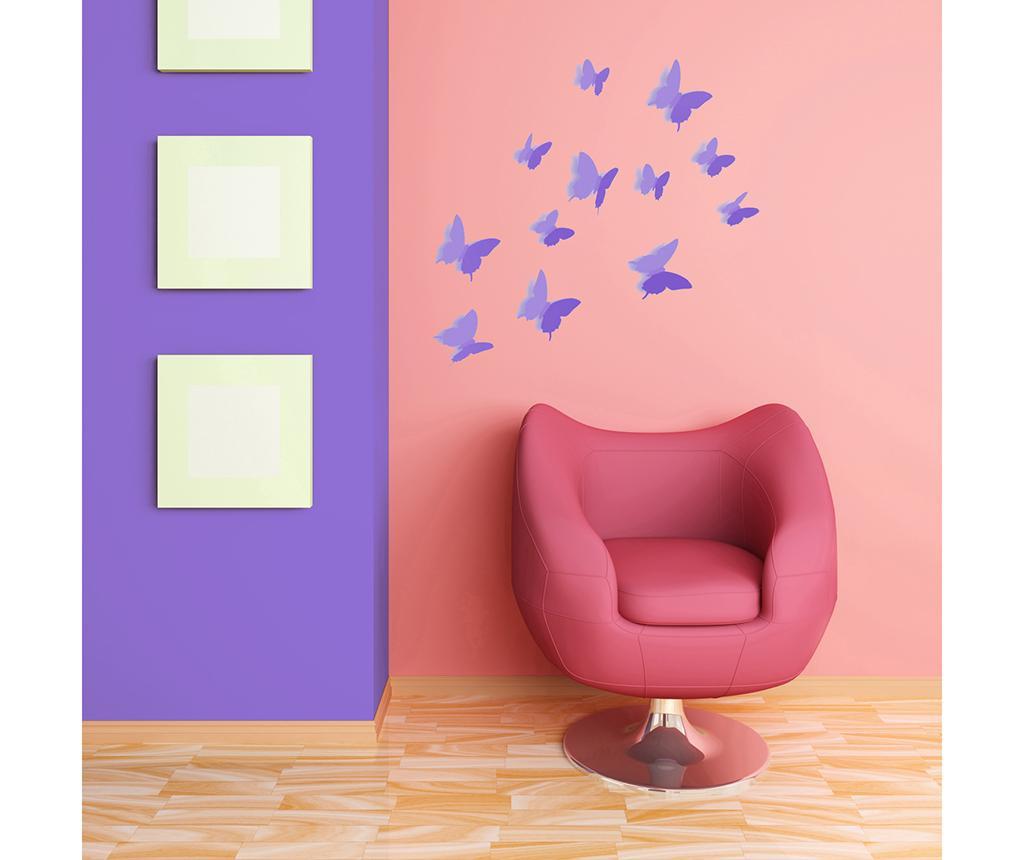 Precious Butterflies Purple 12 darab 3D Matrica
