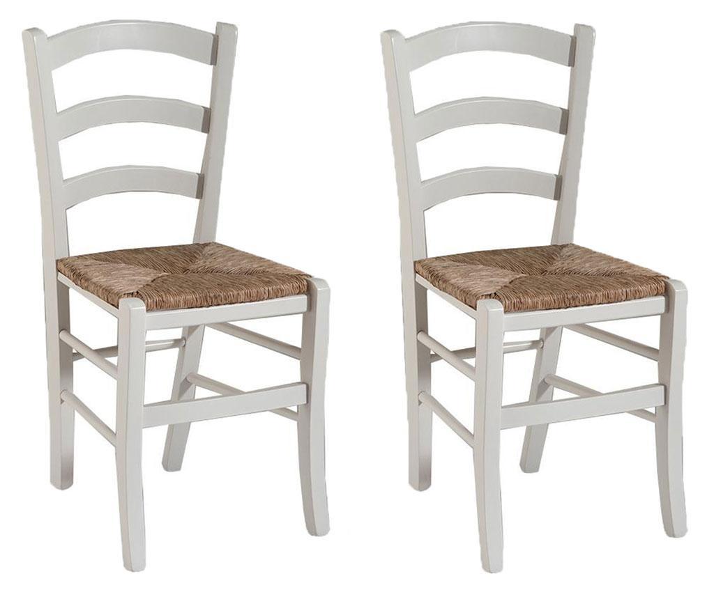 Sada 2 stoličky Sedy