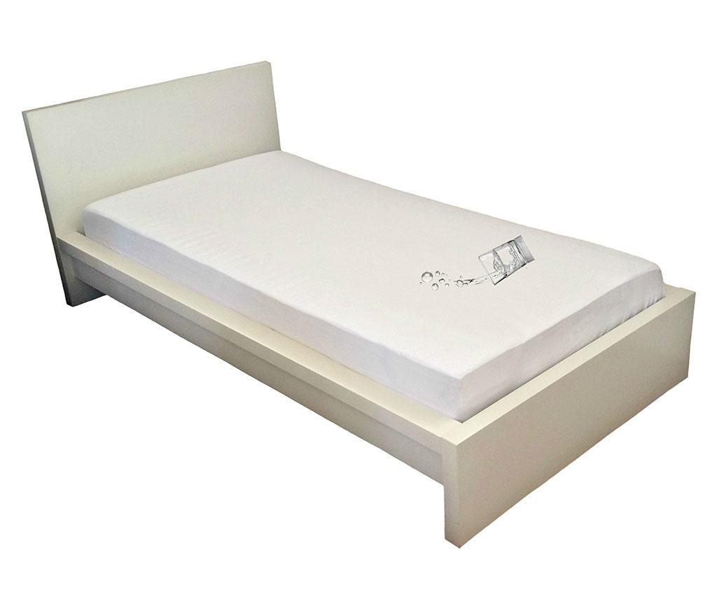 Husa impermeabila pentru saltea Plain White 180x200 cm