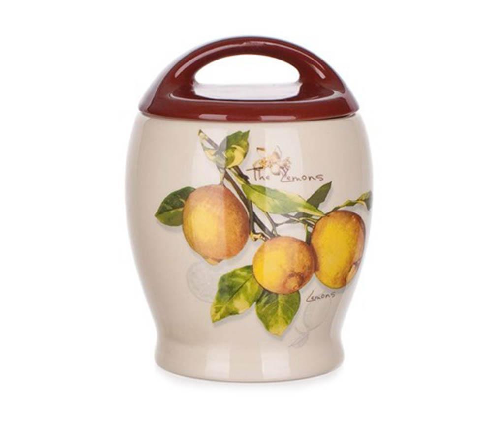 Recipient cu capac Lemon 500 ml