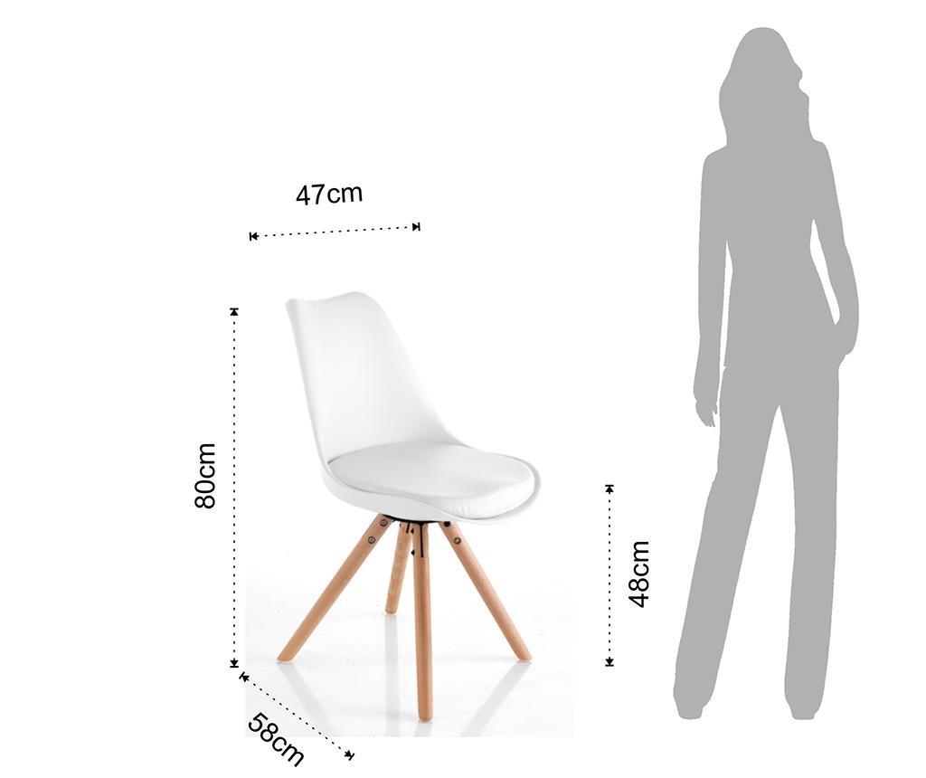 Set 2 stolov Kiki White