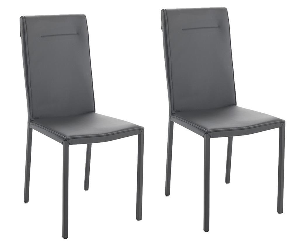 Zestaw 2 krzesła Camy Grey