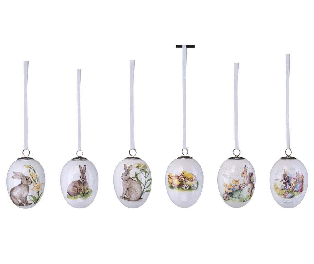 Set 6 decoratiuni suspendabile Rabbit Decal