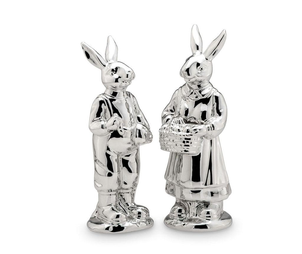 Set 2 decoratiuni Rabbit Pair Height