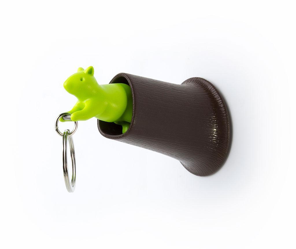 Set privjesak za ključeve i držač Squirrel Brown Green