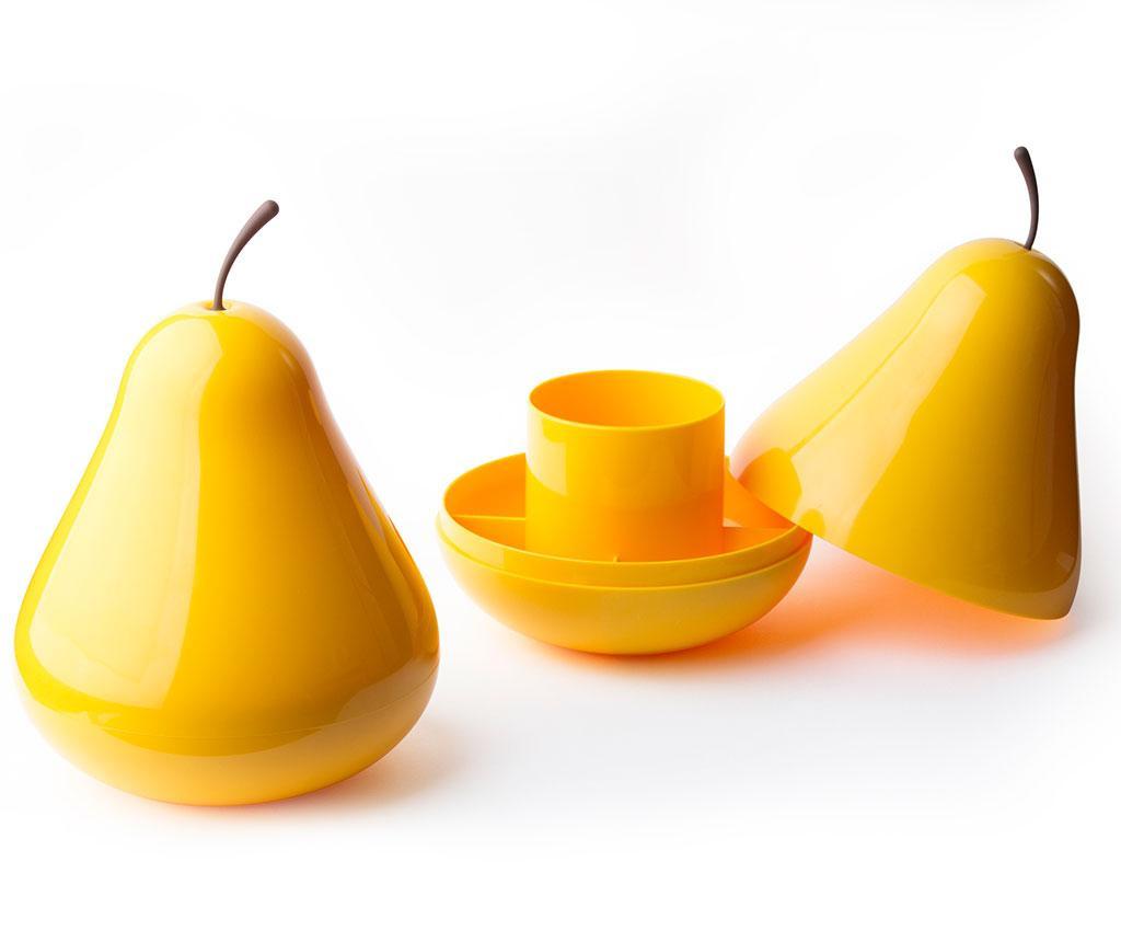 Suport pentru accesorii de birou Pear Yellow
