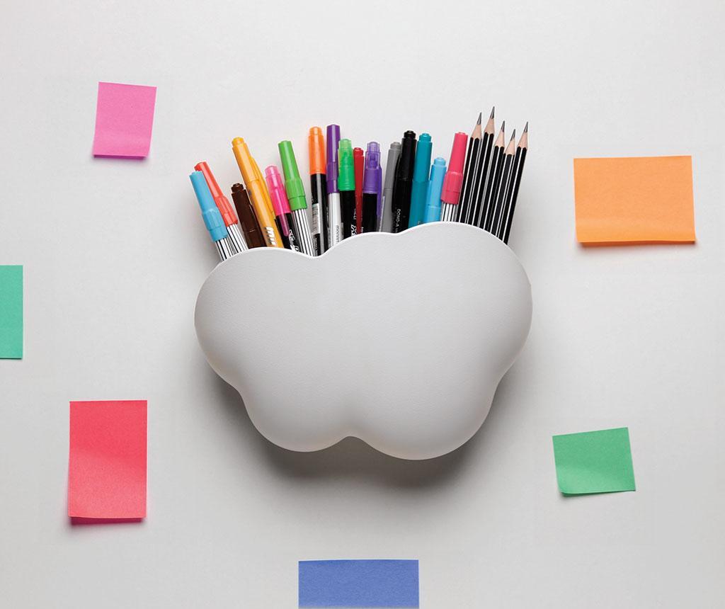 Suport pentru accesorii de birou Cloud White
