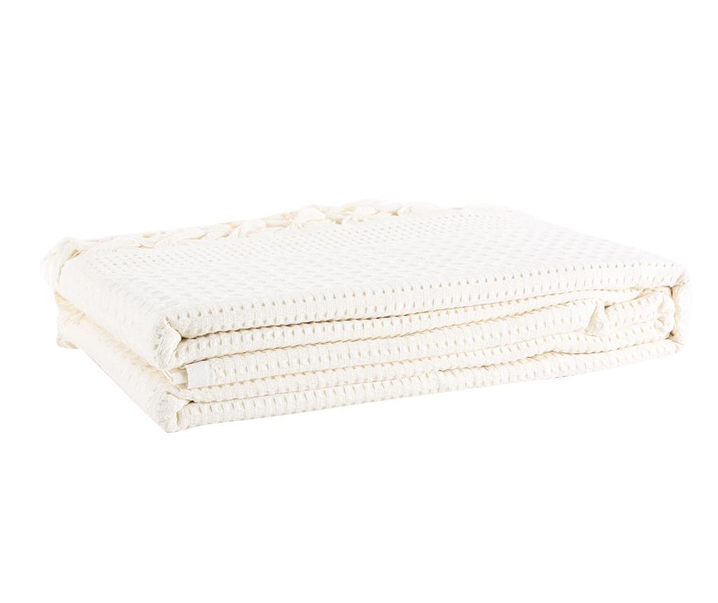 Prekrivač Pique Clara Cream 220x240 cm