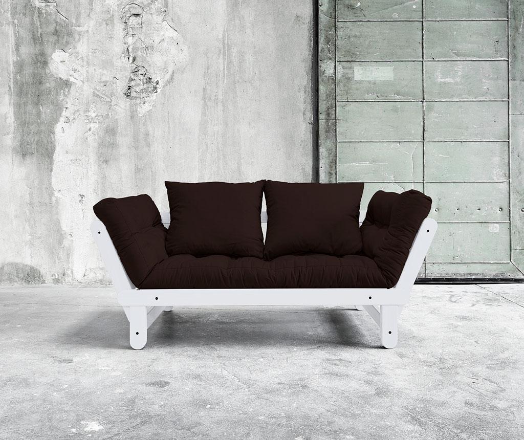Sofa extensibila Beat White and Brown