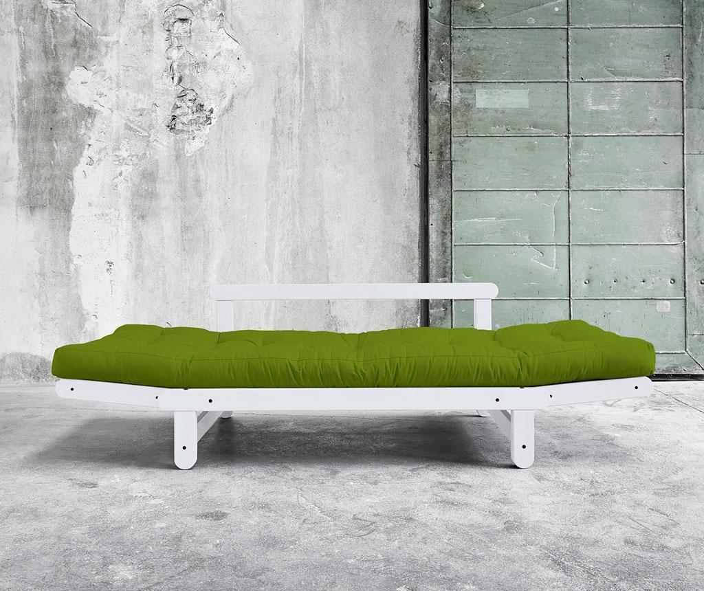 Sofa extensibila Beat White and Lime