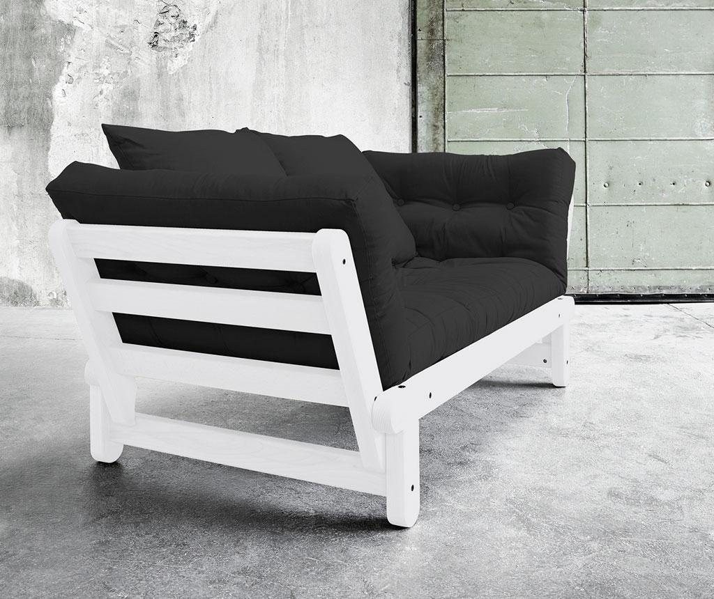 Sofa extensibila Beat White and Dark Grey