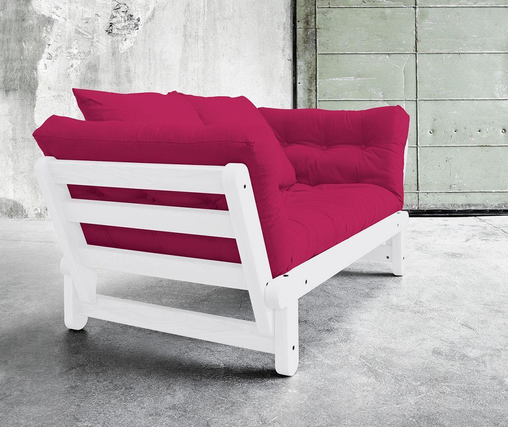 Sofa extensibila Beat White and Pink