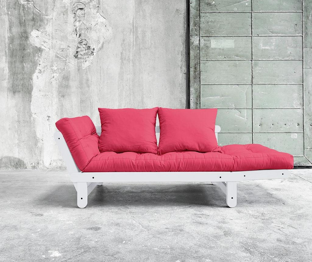 Sofa extensibila Beat White and Magenta