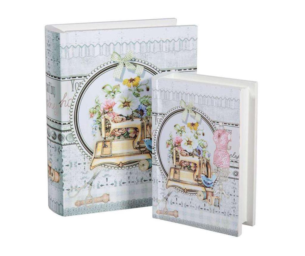 Romantic 2 db Könyvdoboz varrókészletnek
