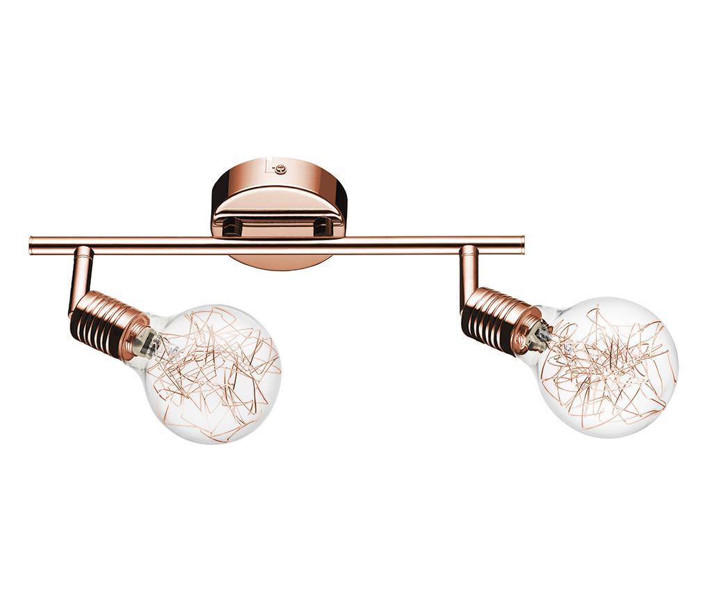 Stenska svetilka Bulbs Double Copper  Transparent