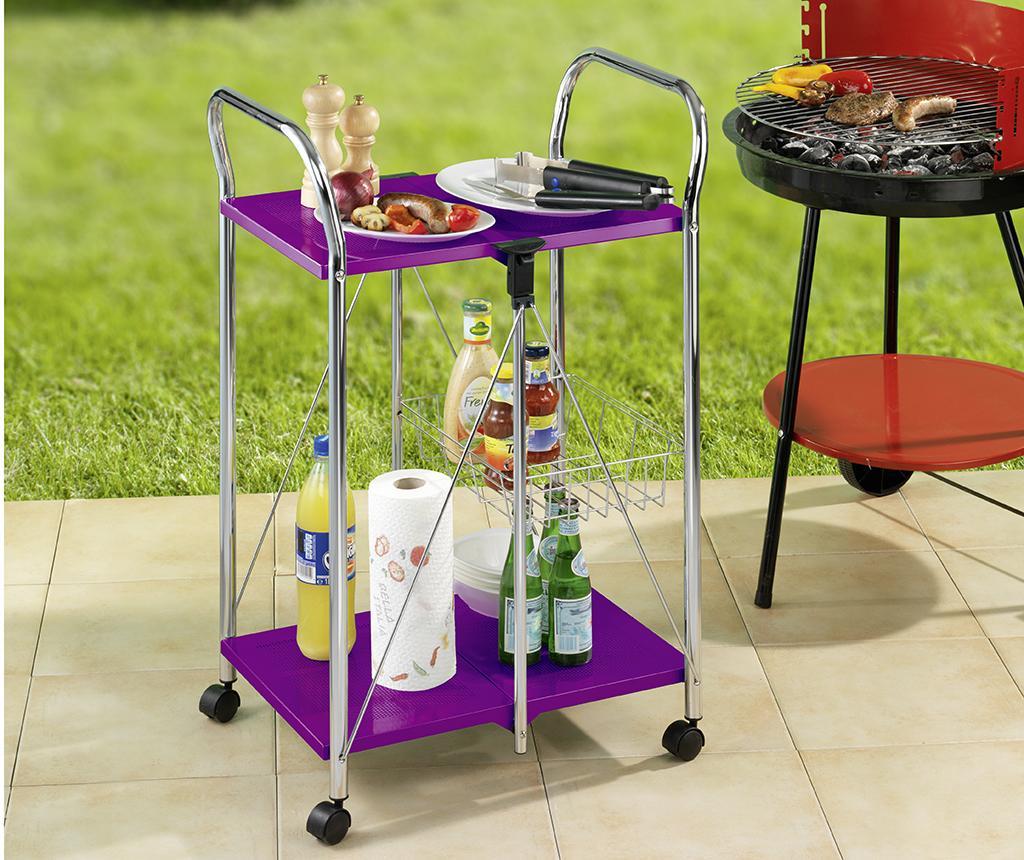 Carucior pliabil pentru servire Sunny Purple