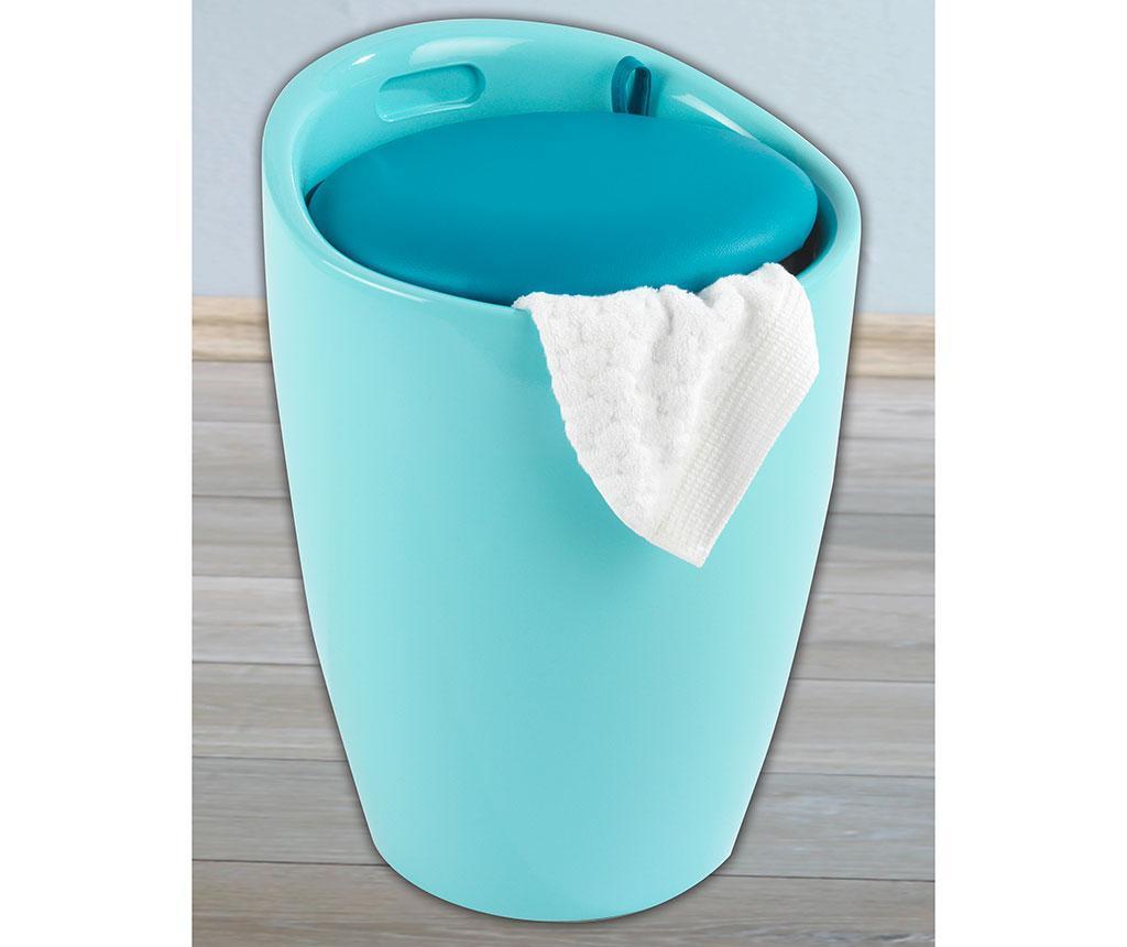 Košara za rublje s  poklopcem Candy Shiny Blue 20 L