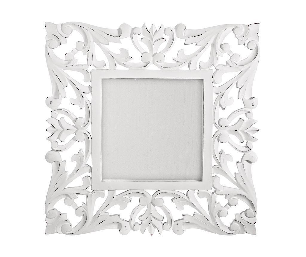 Oglinda Square Laureals White