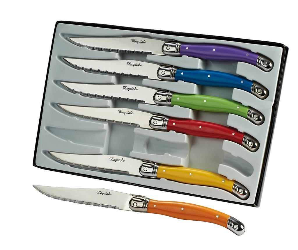 Set 6 noževa za odreske Rainbow Laguiole