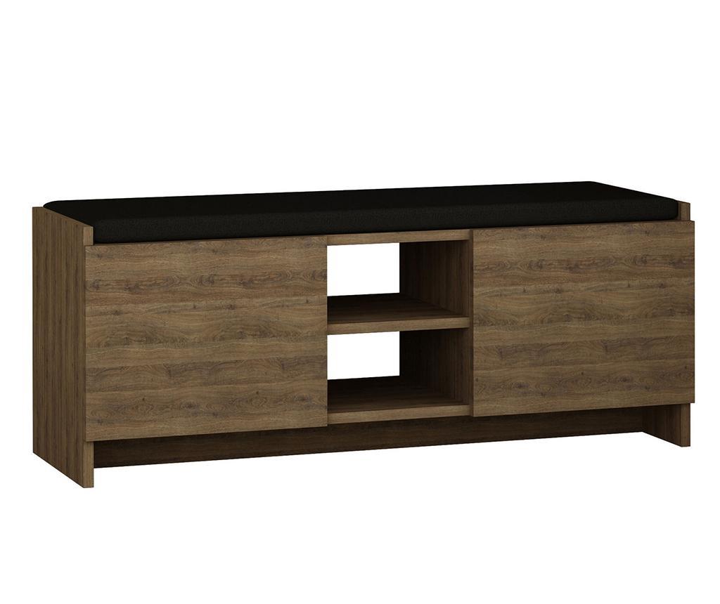Zulla Dark Oak Cipőtartó szekrény
