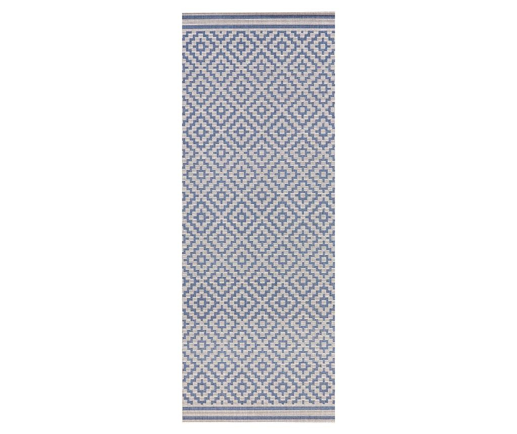 Zunanja preproga Meadow Raute Blue Cream 80x200 cm