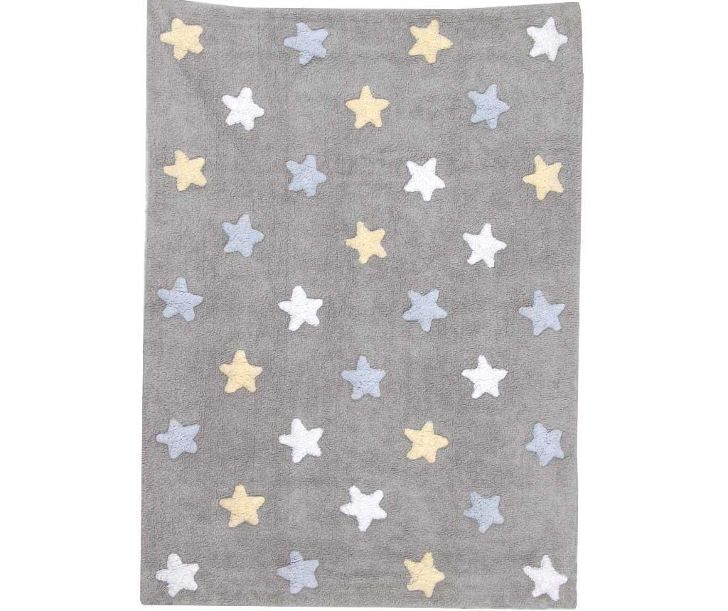 Covor Tricolor Stars Grey Blue Pastel 120x160 cm
